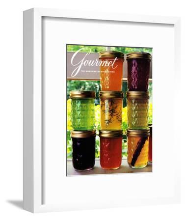 Gourmet Cover - September 1985-Romulo Yanes-Framed Premium Giclee Print