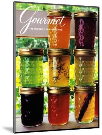 Gourmet Cover - September 1985-Romulo Yanes-Mounted Premium Giclee Print