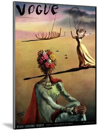Vogue Cover - June 1939 - Dali's Dreams-Salvador Dal?-Mounted Premium Giclee Print