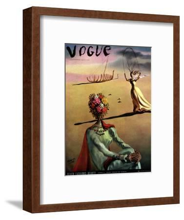 Vogue Cover - June 1939 - Dali's Dreams-Salvador Dal?-Framed Premium Giclee Print
