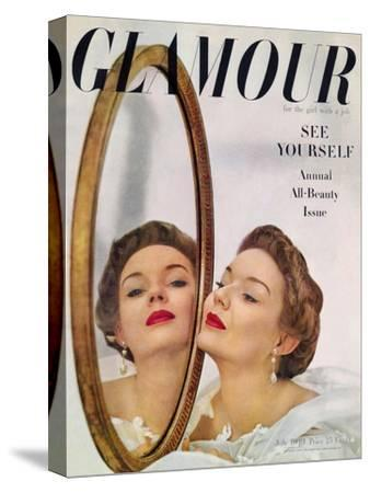 Glamour Cover - July 1949-John Rawlings-Stretched Canvas Print