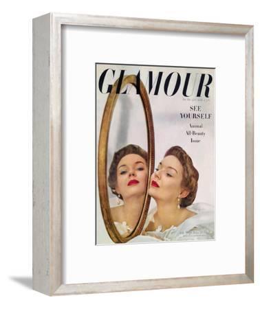 Glamour Cover - July 1949-John Rawlings-Framed Premium Giclee Print