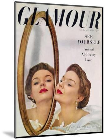Glamour Cover - July 1949-John Rawlings-Mounted Premium Giclee Print