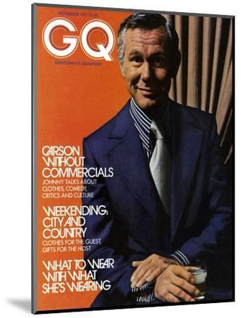 GQ Cover - November 1971-Bruce Bacon-Mounted Premium Giclee Print