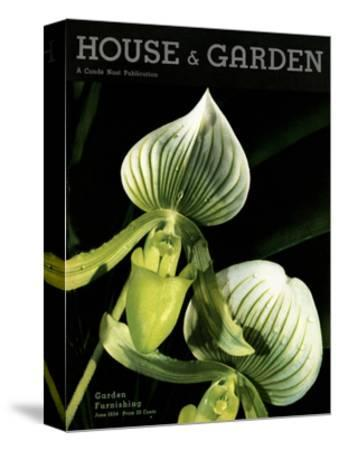 House & Garden Cover - June 1934-Anton Bruehl-Stretched Canvas Print