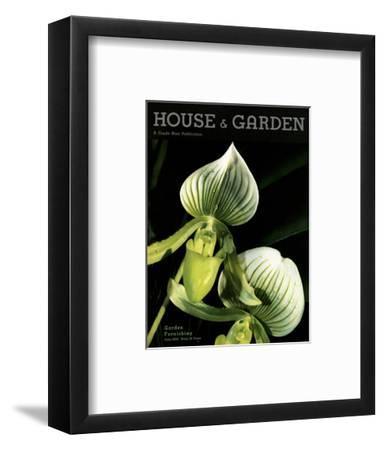 House & Garden Cover - June 1934-Anton Bruehl-Framed Premium Giclee Print