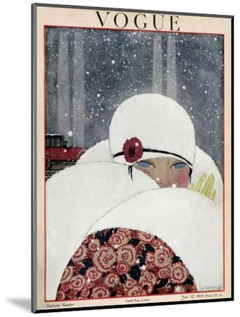 Vogue Cover - January 1919-Georges Lepape-Mounted Premium Giclee Print