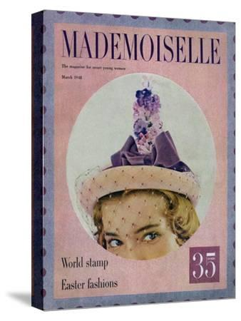 Mademoiselle Cover - March 1948-Mark Shaw-Stretched Canvas Print