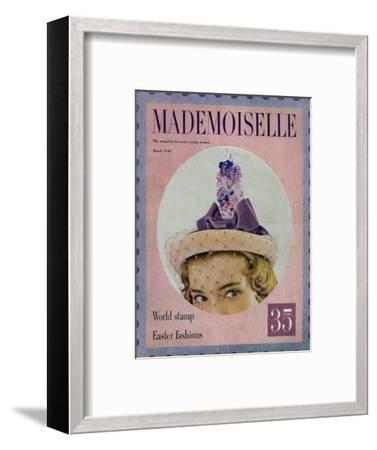 Mademoiselle Cover - March 1948-Mark Shaw-Framed Premium Giclee Print
