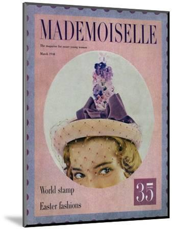 Mademoiselle Cover - March 1948-Mark Shaw-Mounted Premium Giclee Print