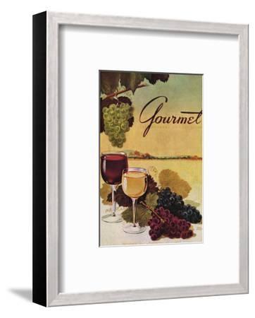 Gourmet Cover - October 1942-Henry Stahlhut-Framed Premium Giclee Print