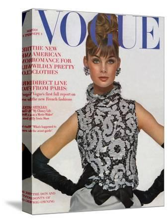 Vogue Cover - September 1963-Bert Stern-Stretched Canvas Print