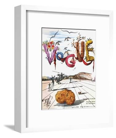 Vogue Cover - April 1944 - Dali's Surealist Vogue-Salvador Dal?-Framed Premium Giclee Print