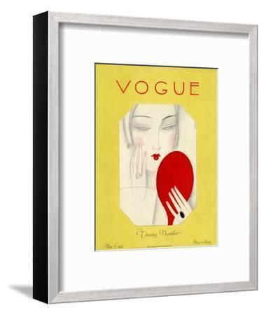 Vogue Cover - November 1925-Eduardo Garcia Benito-Framed Premium Giclee Print
