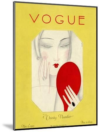 Vogue Cover - November 1925-Eduardo Garcia Benito-Mounted Premium Giclee Print