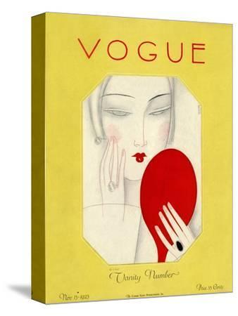 Vogue Cover - November 1925-Eduardo Garcia Benito-Stretched Canvas Print