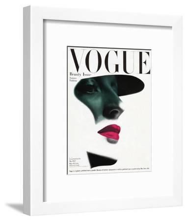 Vogue Cover - May 1945 - In the Shade-Erwin Blumenfeld-Framed Premium Giclee Print