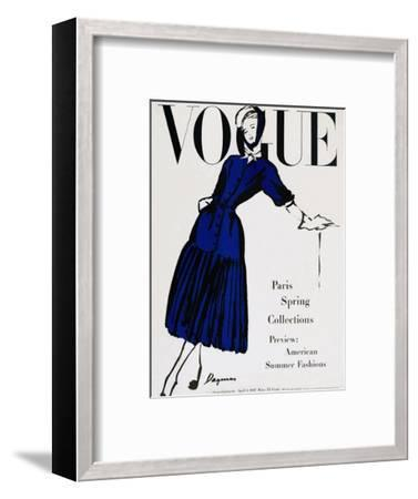 Vogue Cover - April 1947-Dagmar-Framed Premium Giclee Print