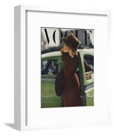 Vogue Cover - September 1945 - On the Town-Constantin Joff?-Framed Premium Giclee Print