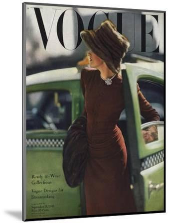 Vogue Cover - September 1945-Constantin Joff?-Mounted Premium Giclee Print
