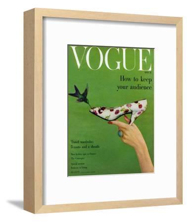 Vogue Cover - April 1957-Richard Rutledge-Framed Premium Giclee Print