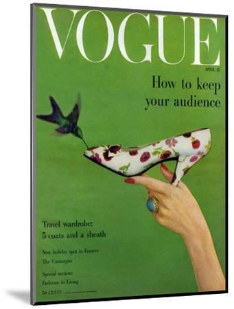Vogue Cover - April 1957-Richard Rutledge-Mounted Premium Giclee Print
