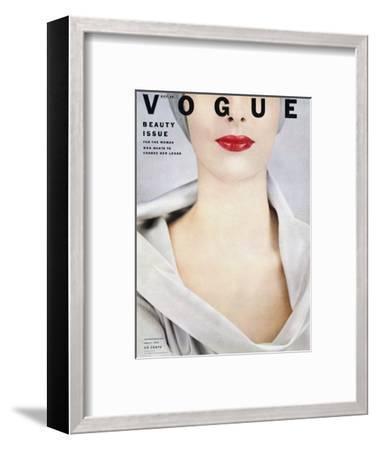 Vogue Cover - October 1952-Erwin Blumenfeld-Framed Premium Giclee Print