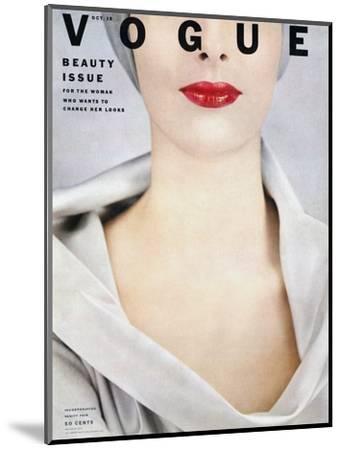 Vogue Cover - October 1952-Erwin Blumenfeld-Mounted Premium Giclee Print