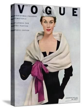 Vogue Cover - November 1952 - Tied with a Bow-Frances Mclaughlin-Gill-Stretched Canvas Print