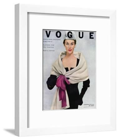 Vogue Cover - November 1952 - Tied with a Bow-Frances Mclaughlin-Gill-Framed Premium Giclee Print