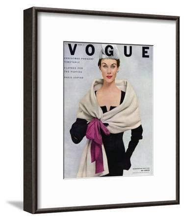 Vogue Cover - November 1952-Frances Mclaughlin-Gill-Framed Premium Giclee Print