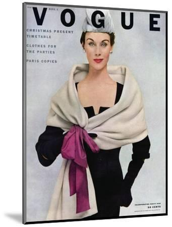 Vogue Cover - November 1952 - Tied with a Bow-Frances Mclaughlin-Gill-Mounted Premium Giclee Print