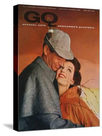 GQ Cover - January 1958-Emme Gene Hall-Stretched Canvas Print