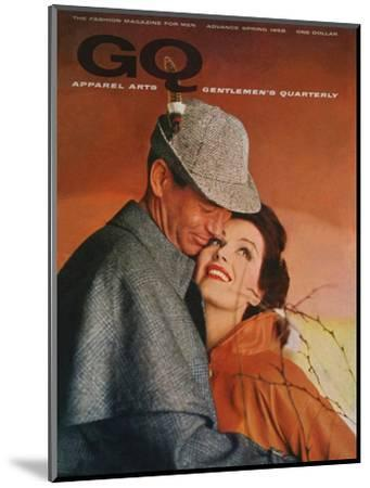 GQ Cover - January 1958-Emme Gene Hall-Mounted Premium Giclee Print