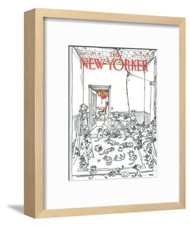 The New Yorker Cover - January 5, 1981-George Booth-Framed Premium Giclee Print