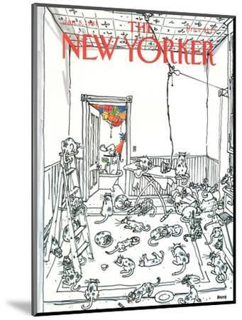The New Yorker Cover - January 5, 1981-George Booth-Mounted Premium Giclee Print
