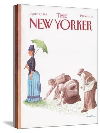 The New Yorker Cover - June 18, 1990-J.B. Handelsman-Stretched Canvas Print