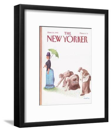 The New Yorker Cover - June 18, 1990-J.B. Handelsman-Framed Premium Giclee Print