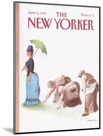 The New Yorker Cover - June 18, 1990-J.B. Handelsman-Mounted Premium Giclee Print