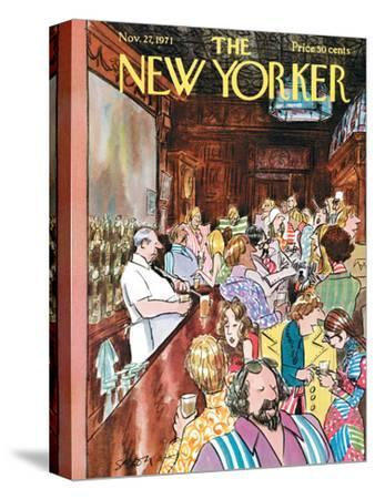 The New Yorker Cover - November 27, 1971-Charles Saxon-Stretched Canvas Print