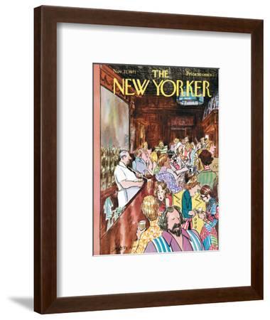 The New Yorker Cover - November 27, 1971-Charles Saxon-Framed Premium Giclee Print
