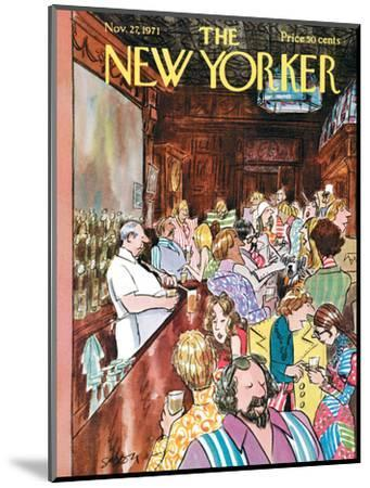 The New Yorker Cover - November 27, 1971-Charles Saxon-Mounted Premium Giclee Print
