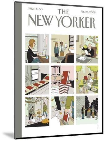 The New Yorker Cover - February 25, 2008-Adrian Tomine-Mounted Premium Giclee Print