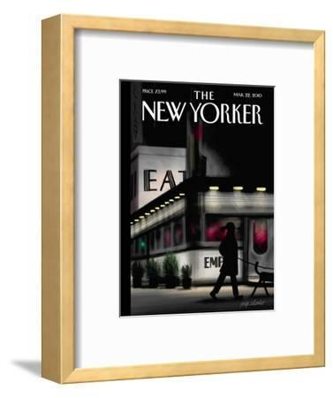 The New Yorker Cover - March 22, 2010-Jorge Colombo-Framed Premium Giclee Print