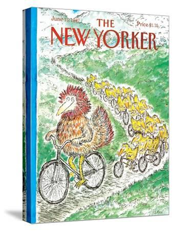 The New Yorker Cover - June 15, 1987-Edward Koren-Stretched Canvas Print