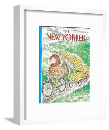 The New Yorker Cover - June 15, 1987-Edward Koren-Framed Premium Giclee Print