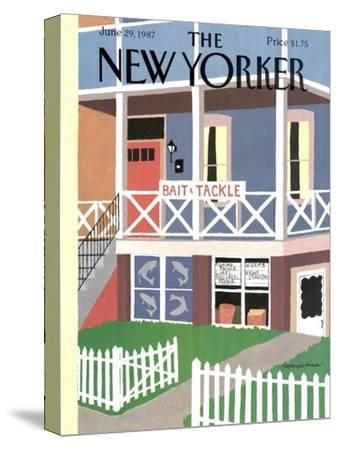 The New Yorker Cover - June 29, 1987-Marisabina Russo-Stretched Canvas Print