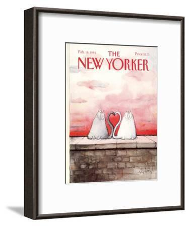 The New Yorker Cover - February 18, 1991-Ronald Searle-Framed Premium Giclee Print