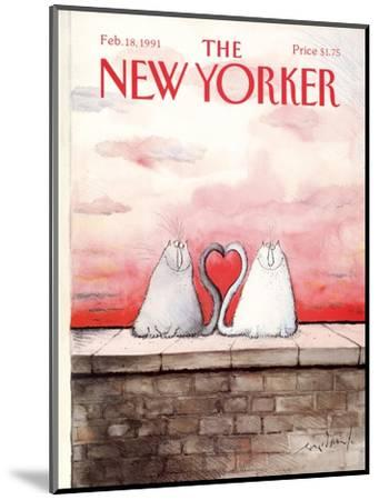 The New Yorker Cover - February 18, 1991-Ronald Searle-Mounted Premium Giclee Print