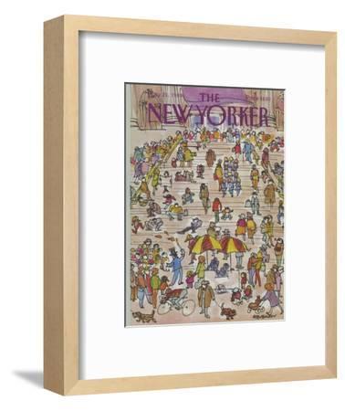 The New Yorker Cover - May 21, 1984-James Stevenson-Framed Premium Giclee Print